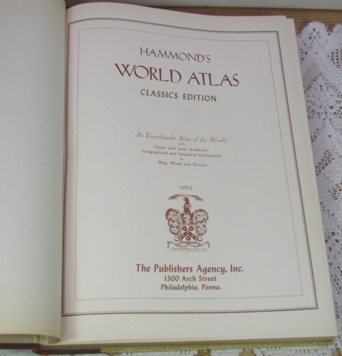 World Atlas Book. Hammond#39;s World Atlas History