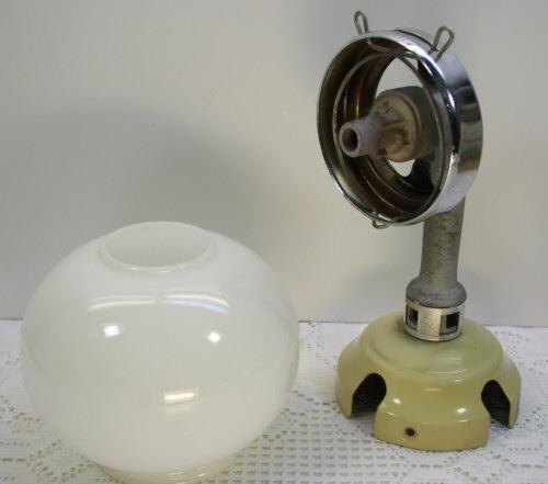 Vintage Humphrey Gas Light Camp Rv Fixture W Glass Globe