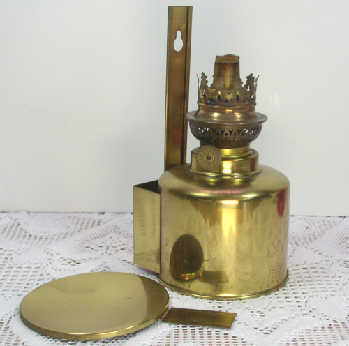 Wall Mounted Brass Oil Lamps : Brass Wall Hang/Mount Kerosene/Oil Lamp Danish/Denmark eBay