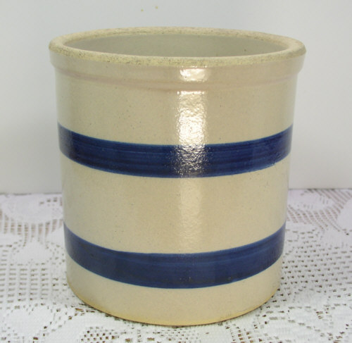 Robinson Ransbottom Pottery Blue Band 1 5qt Jar Crock
